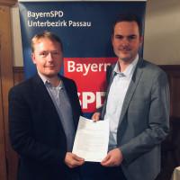 Fordern ein Ende der stationären Grenzkontrolle: MdL Christian Flisek und Landratskandidat Andreas Winterer